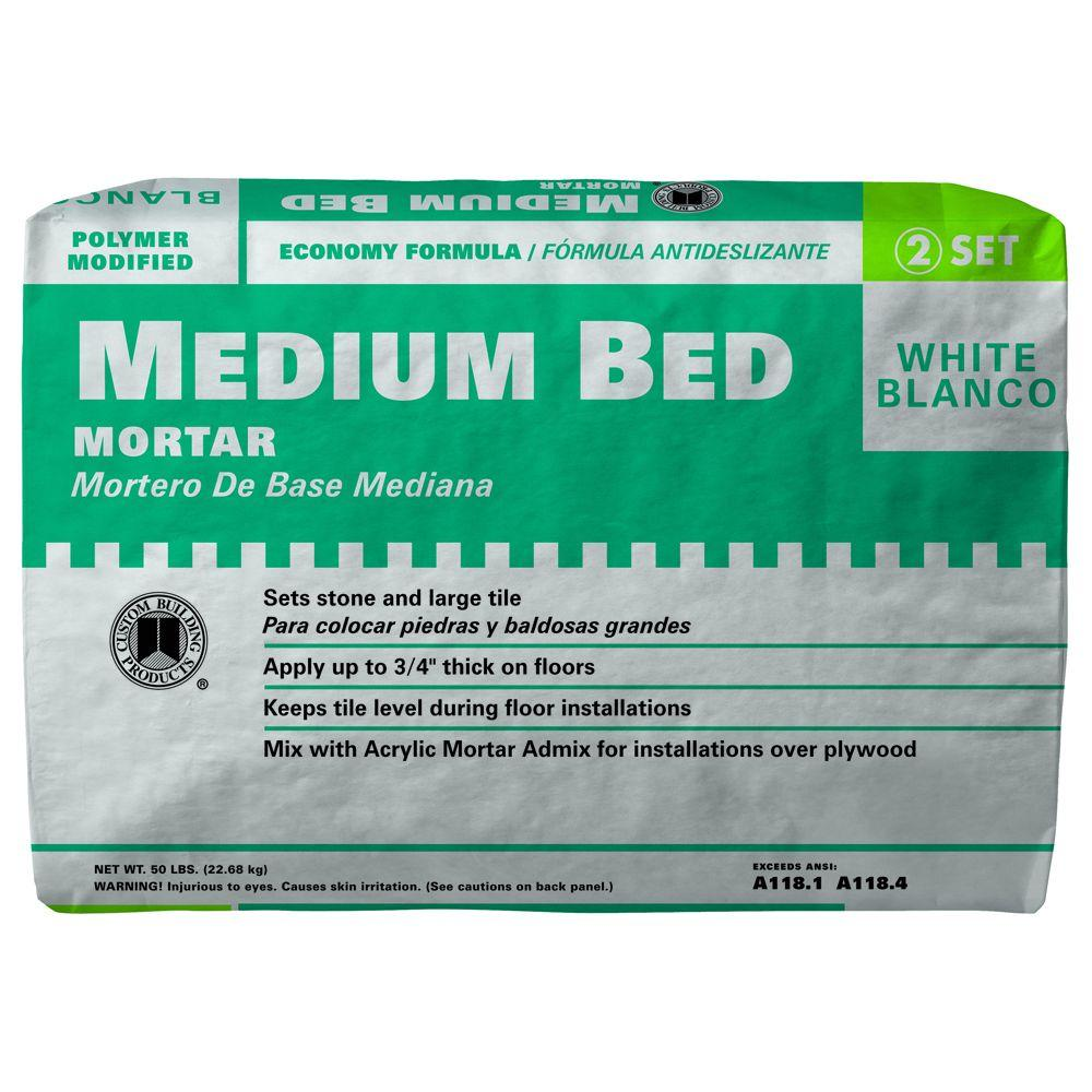 Custom Building Products White 50 lb. Medium Bed Mortar