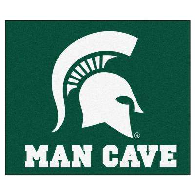 Michigan State University Green Man Cave 5 ft. x 6 ft. Area Rug