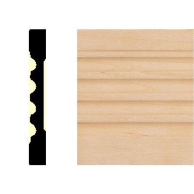 3/8 in. x 3 in. x 7 ft. Basswood Fluted Casing Moulding