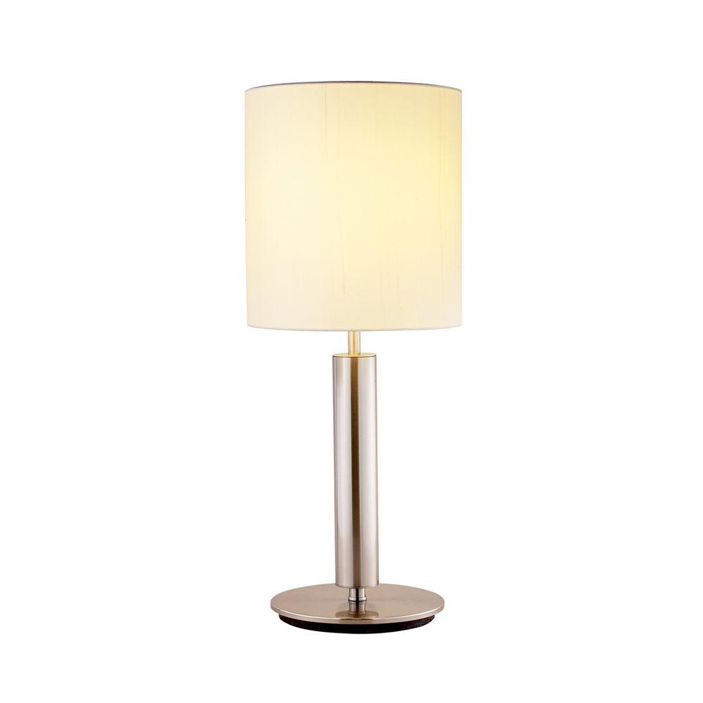 Touch sensor table lamps lamps the home depot satin steel table lamp aloadofball Images