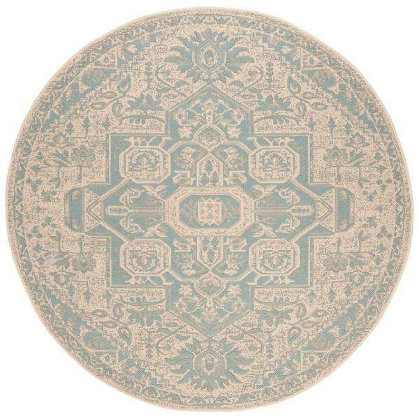 Indoor Outdoor Round Area Rug Bhs138k