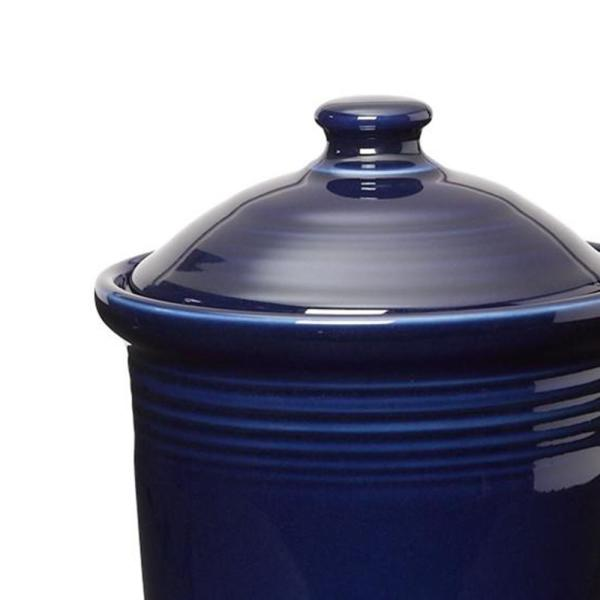 Fiesta 1 Qt Cobalt Blue Small Canister With Lid 571105u The Home Depot