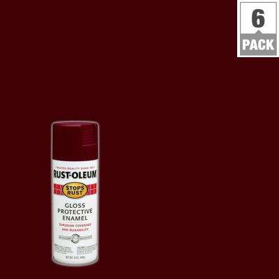 12 oz. Protective Enamel Gloss Merlot Spray Paint (6-Pack)