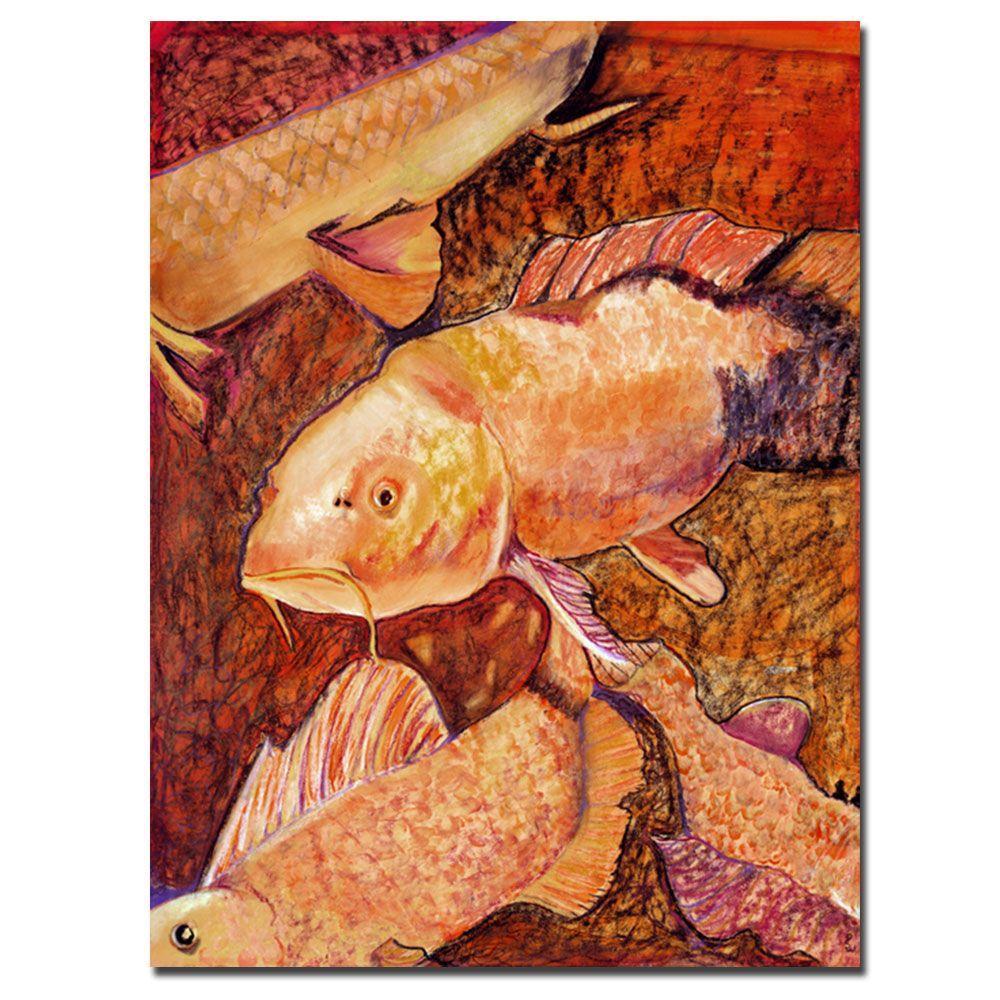 24 in. x 32 in. Golden Koi Canvas Art