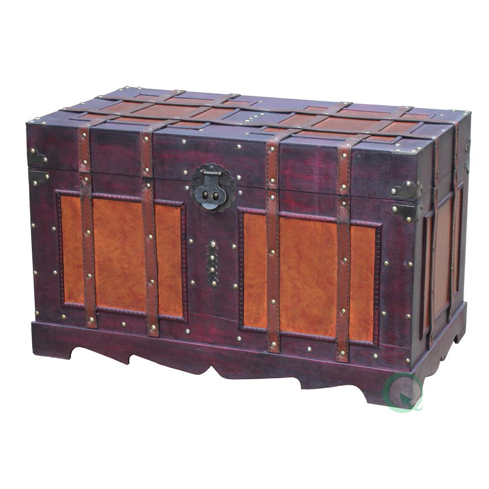 Charmant Brown Storage Trunk