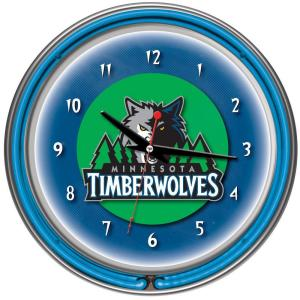 Trademark Global 14 inch Minnesota Timberwolves NBA Chrome Double Ring Neon Wall...