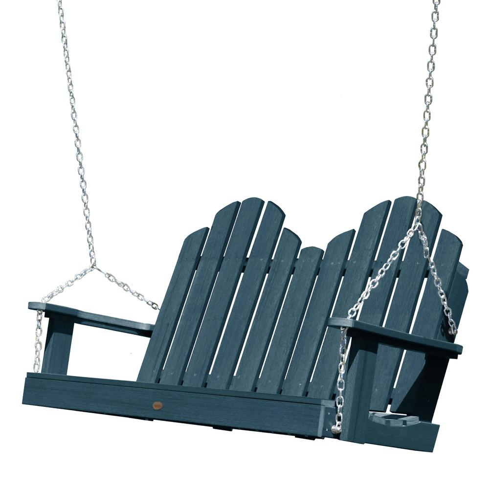 Highwood Classic Westport 48 in. 2-Person Dried Sage Recycled Plastic Porch Swing