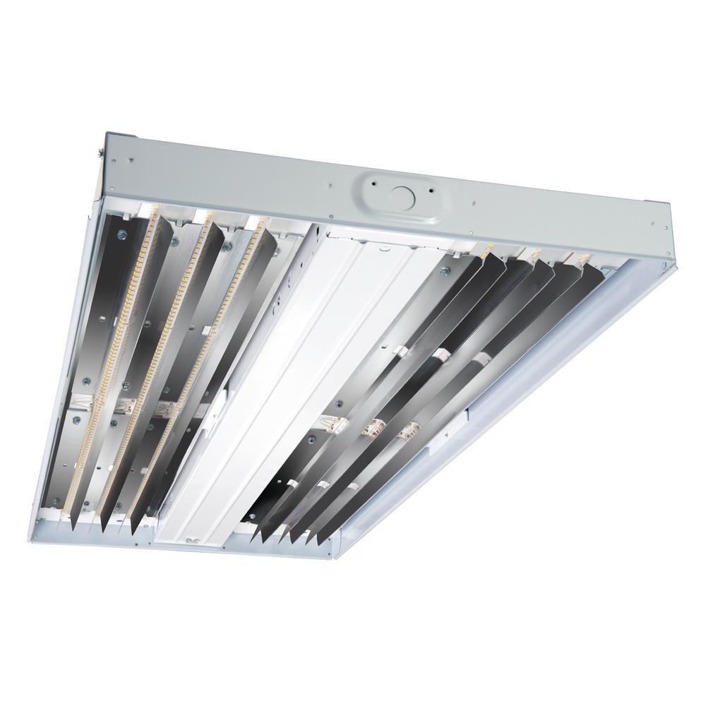 Metalux 75-Watt White Enamel Integrated LED High Bay Light