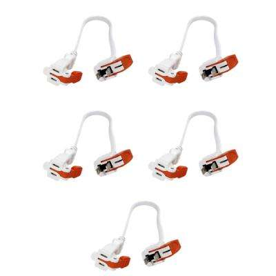AC Connectors 1 ft. 16/2 13 Amp 2-Prong Outlet Extender with Easy Unplug Feature (5-Pack)