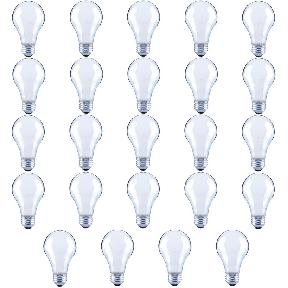 40-Watt Equivalent A19 Frosted Glass Vintage Decorative Edison Filament Dimmable LED Light Bulb Soft White (24-Pack)