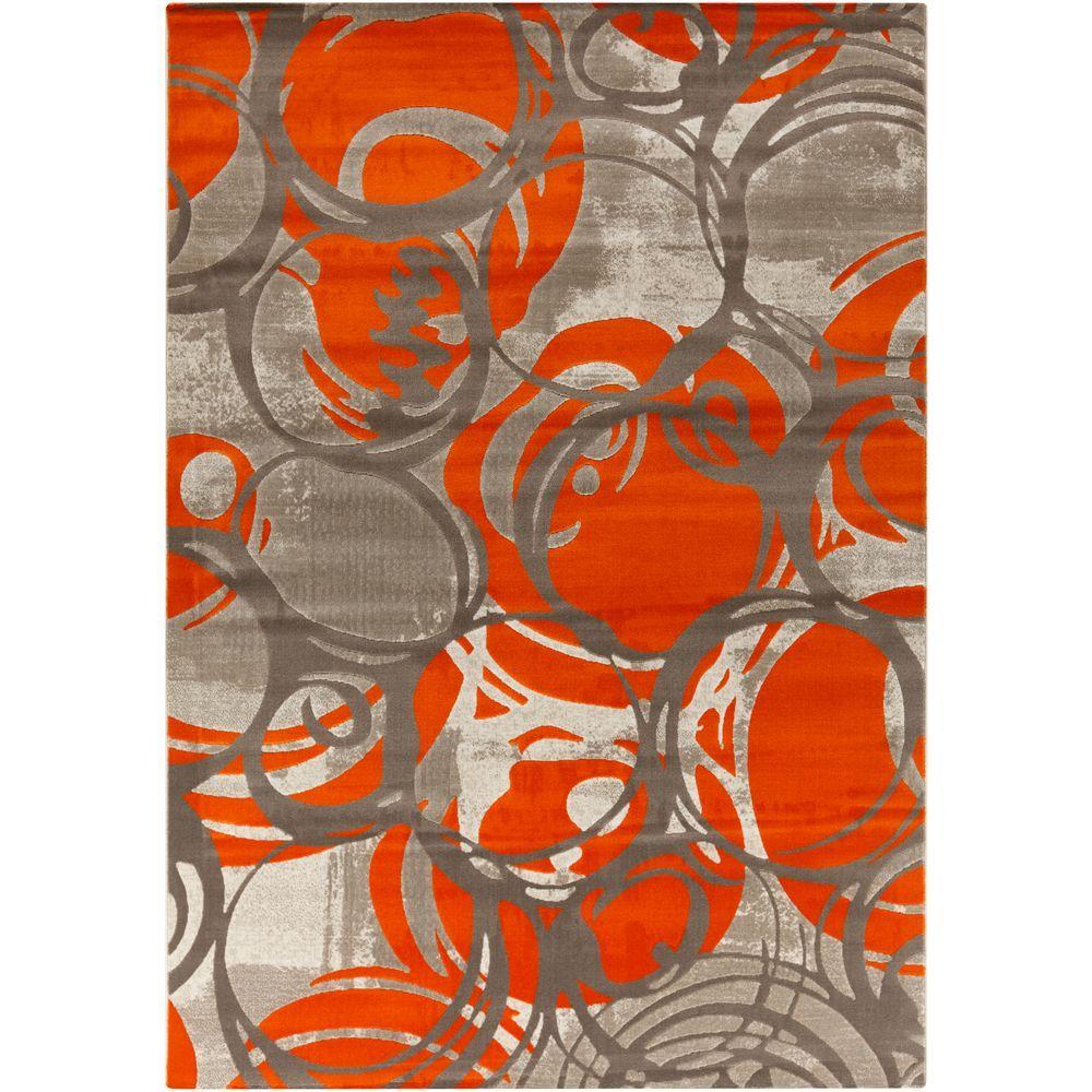 Petrila Burnt Orange 8 ft. x 11 ft. Indoor Area Rug