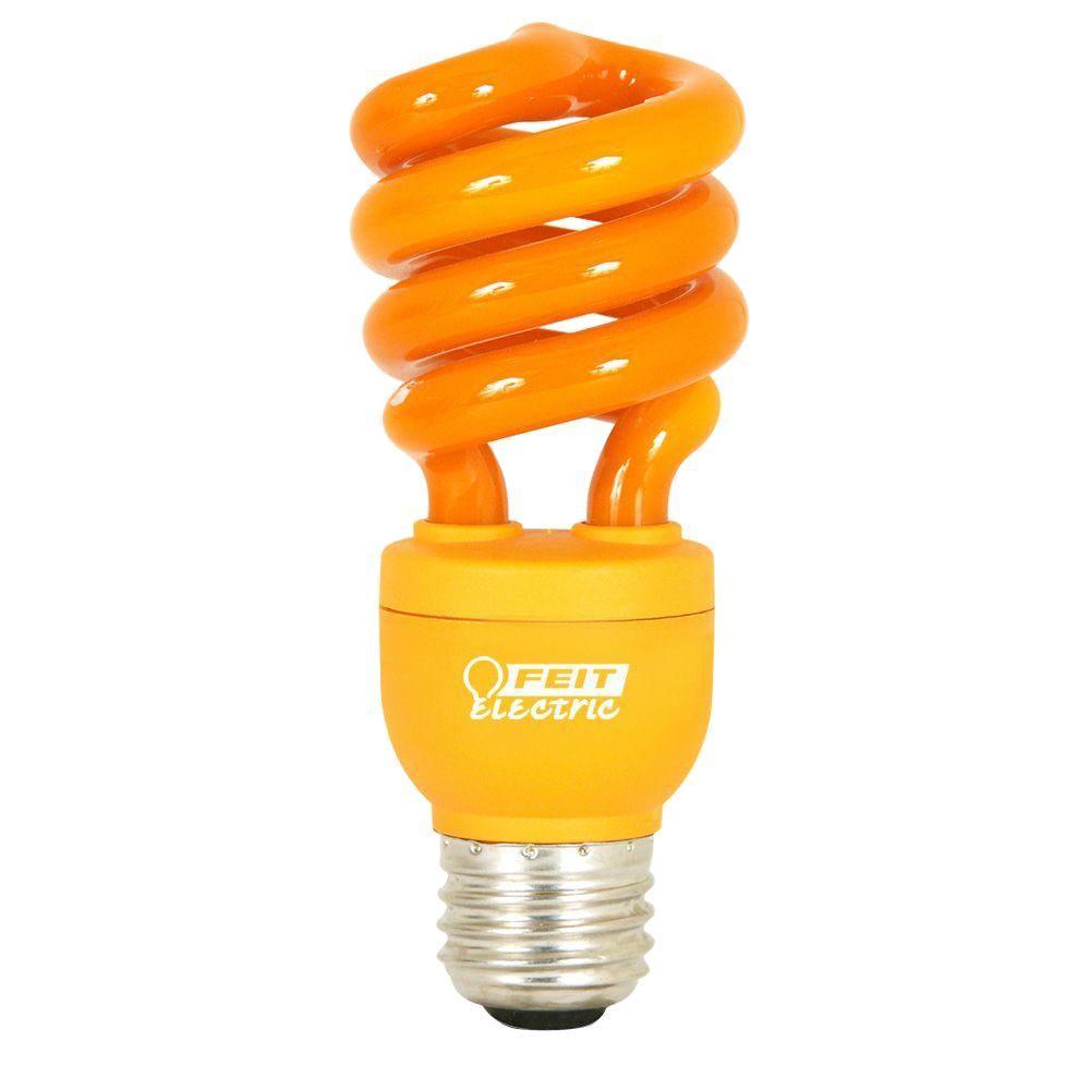 Feit electric 60w equivalent orange colored spiral cfl light bulb feit electric 60w equivalent orange colored spiral cfl light bulb audiocablefo