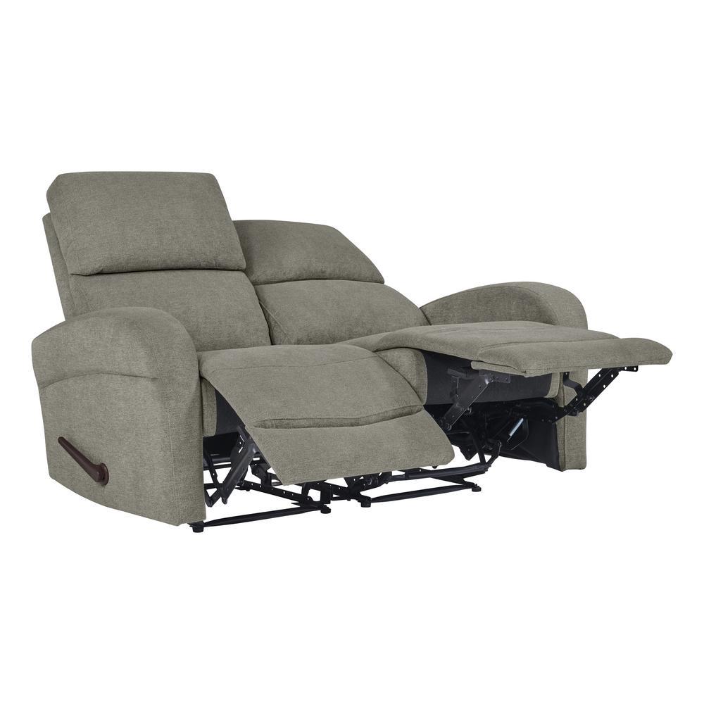 Warm Gray Chenille Recliner Loveseat (2-Seat)