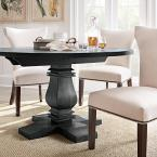 Home Decorators Collection Aldridge Washed Black Round Dining Table