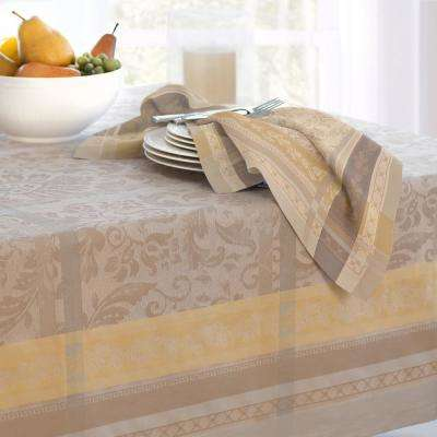 Promenade 21 in. W x 21 in. L in Gray/Gold Cotton Napkins (Set of 4)