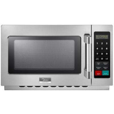 1.2 cu. ft. 1000-Watt Commercial Counter Top Microwave Oven in Stainless Steel Interior and Exterior, Programmable