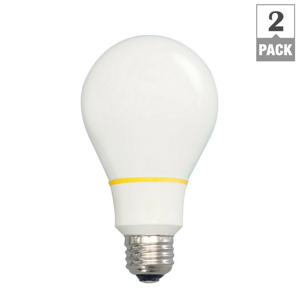 60-Watt Equivalent Soft White A19 LED Alternative Light Bulb (2-Pack)