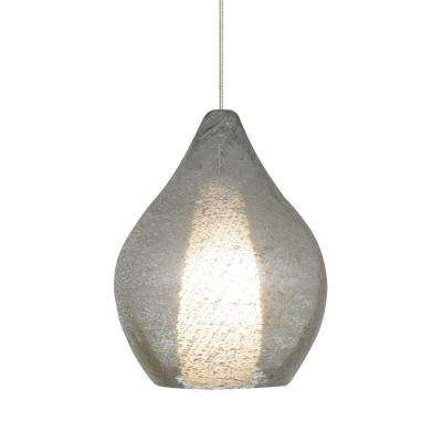 2 1 light satin nickel xenon mini pendant with clear shade