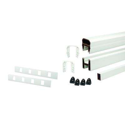 67.5 in. Composite Classic White Horizontal Rail Kit with 14 Balusters