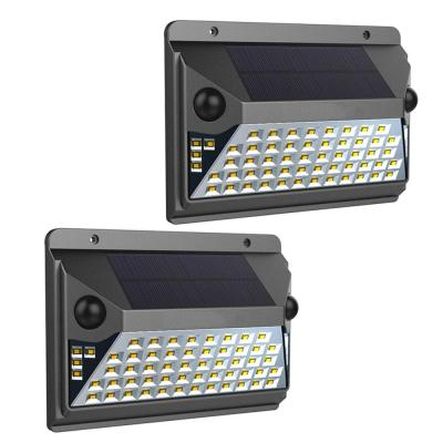 12-Watt Equivalent Integrated LED Black Dual Motion Sensor Solar Wall Pack Light, 1000L (2-Pack)