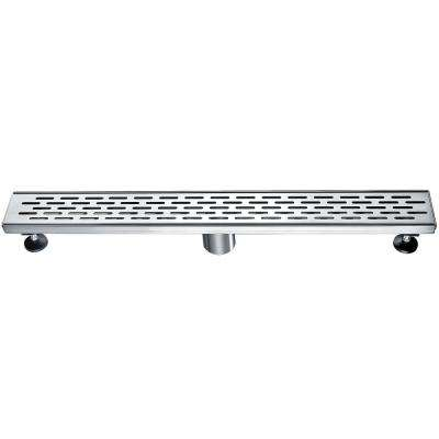 24 in. Linear Shower Drain in Brushed Stainless Steel