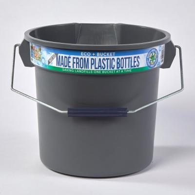 3.5 Gal. Gray Round 14 Qt. Utility ECO Bucket 100% Made from Recycled Water Bottles