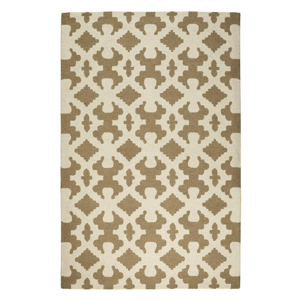 Home Decorators Collection Bowtie Beige/Ivory 3 ft. 9 in. x 5 ft. 9 in. Area Rug
