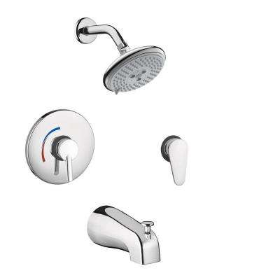 Focus S Shower System Combo in Chrome