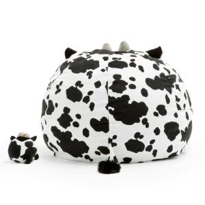 Miraculous Big Joe Chloe The Cow Cozy Black And White Plush Bean Bag Gmtry Best Dining Table And Chair Ideas Images Gmtryco