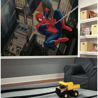 72 in. W x 126 in. H Ultimate Spiderman XL Chair Rail 7-Panel Prepasted Wall Mural