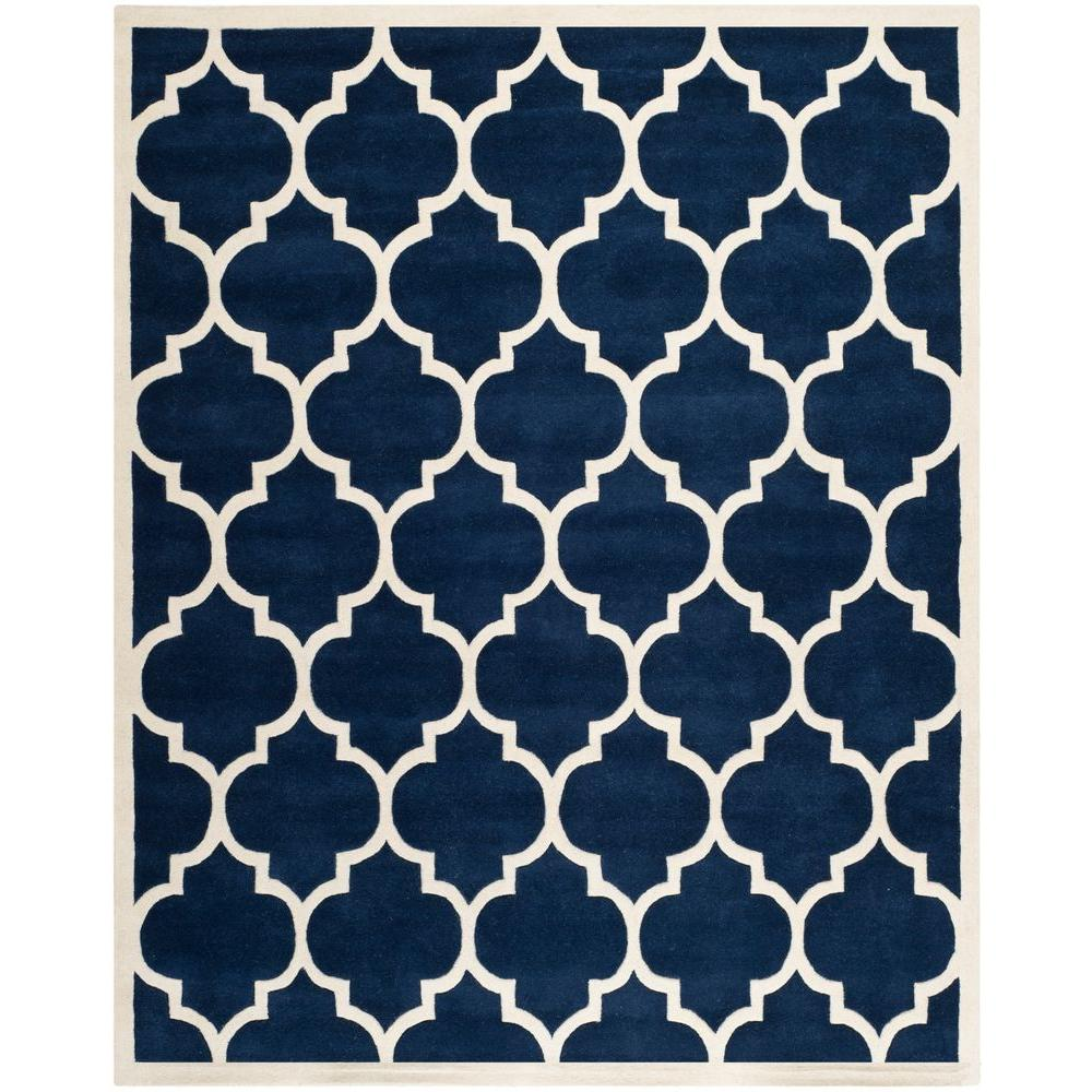 Safavieh Chatham Dark Blue/Ivory 8 ft. x 10 ft. Area Rug