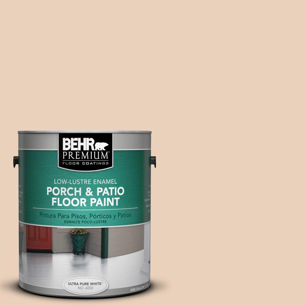 BEHR Premium 1 gal. #PPL-61 Spiced Beige Low-Lustre Enamel Interior/Exterior Porch and Patio Floor Paint