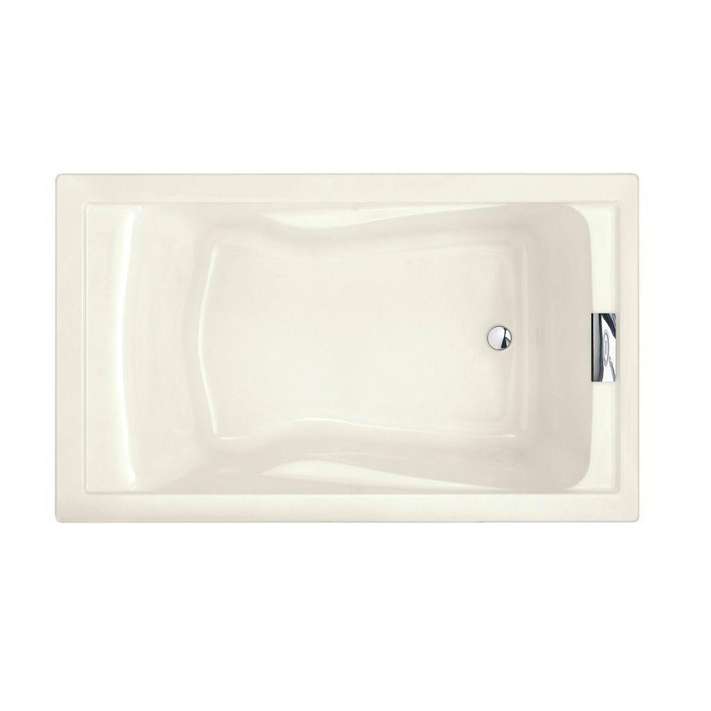 Evolution 5 ft. Reversible Drain Deep Soaking Tub in Linen