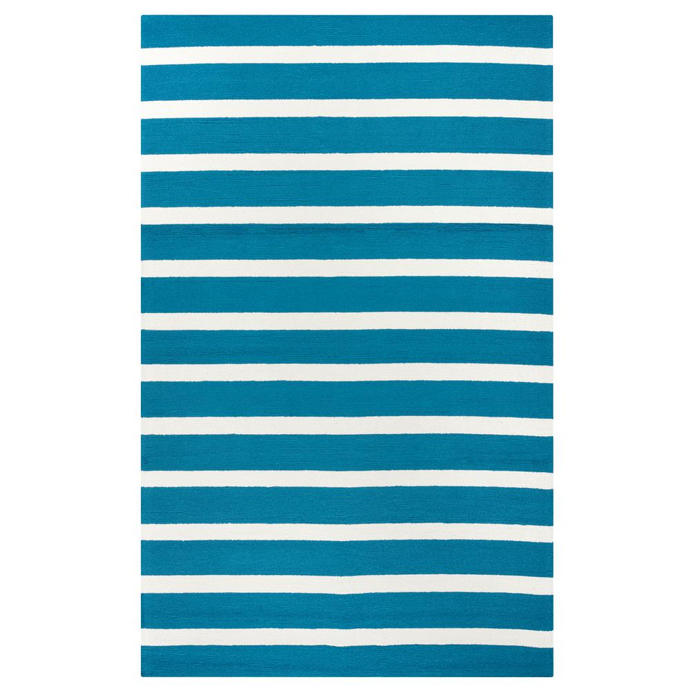 Rizzy Home Azzura Hill Dark Teal Striped 2 Ft. X 3 Ft