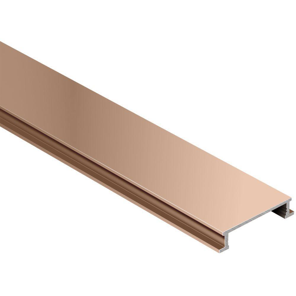Designline Satin Copper Anodized Aluminum 1/4 in. x 8 ft. 2-1/2 in. Metal Border Tile Edging Trim