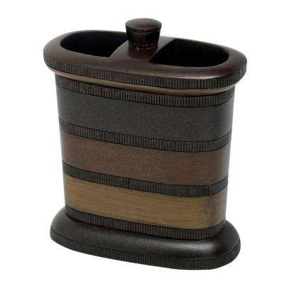 DeSoto Toothbrush Holder in Tri-Color Bronze