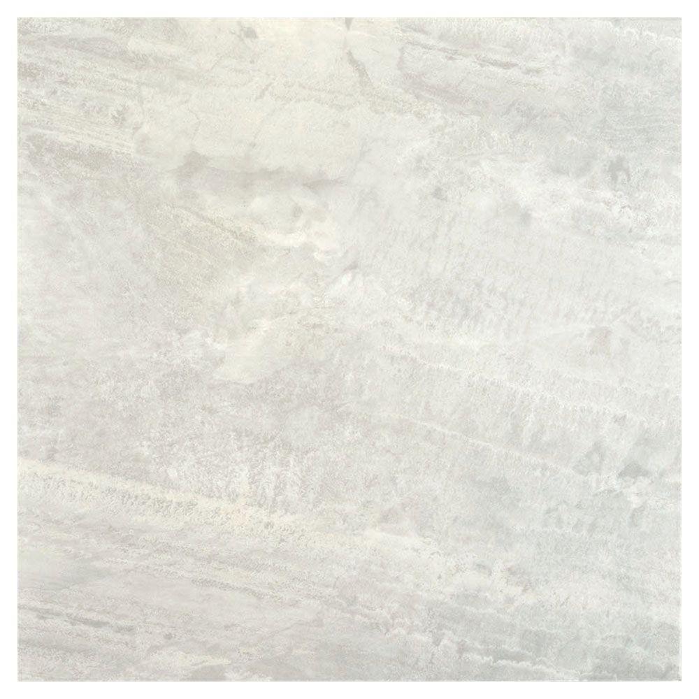 TrafficMASTER Light Grey 18 in. x 18 in. Slate Peel and Stick Vinyl Tile Flooring (27 sq. ft. / case)