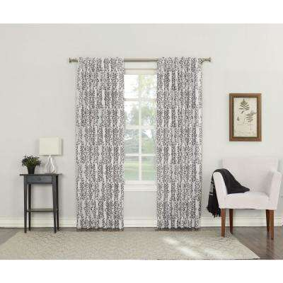 Rochelle Iron Lined Back Tab Blackout Curtain - 52 in. W x 84 in. L