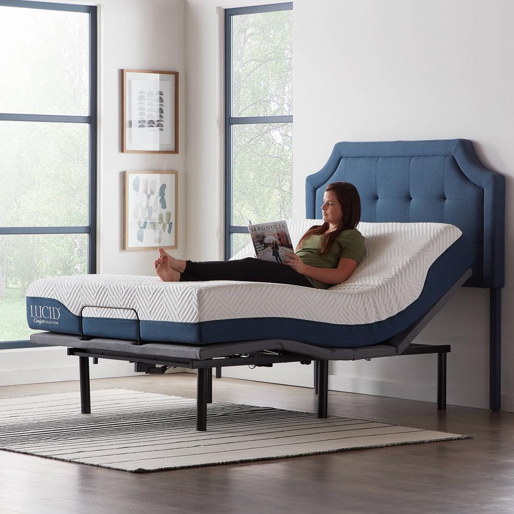 Lucid Comfort Collection Deluxe Adjustable Queen Bed Base Deals