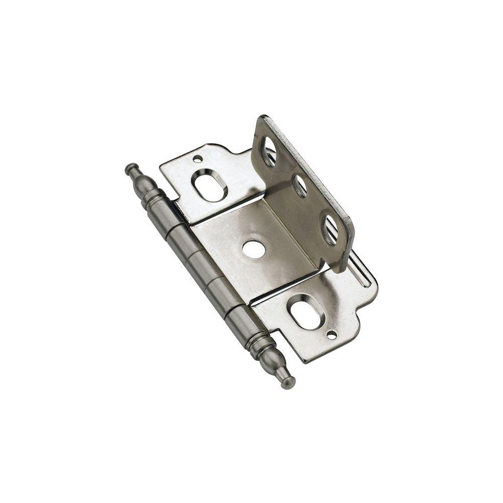 Full Inset Nickel Hinge Partial Wrap Door Thickness Minaret Tip