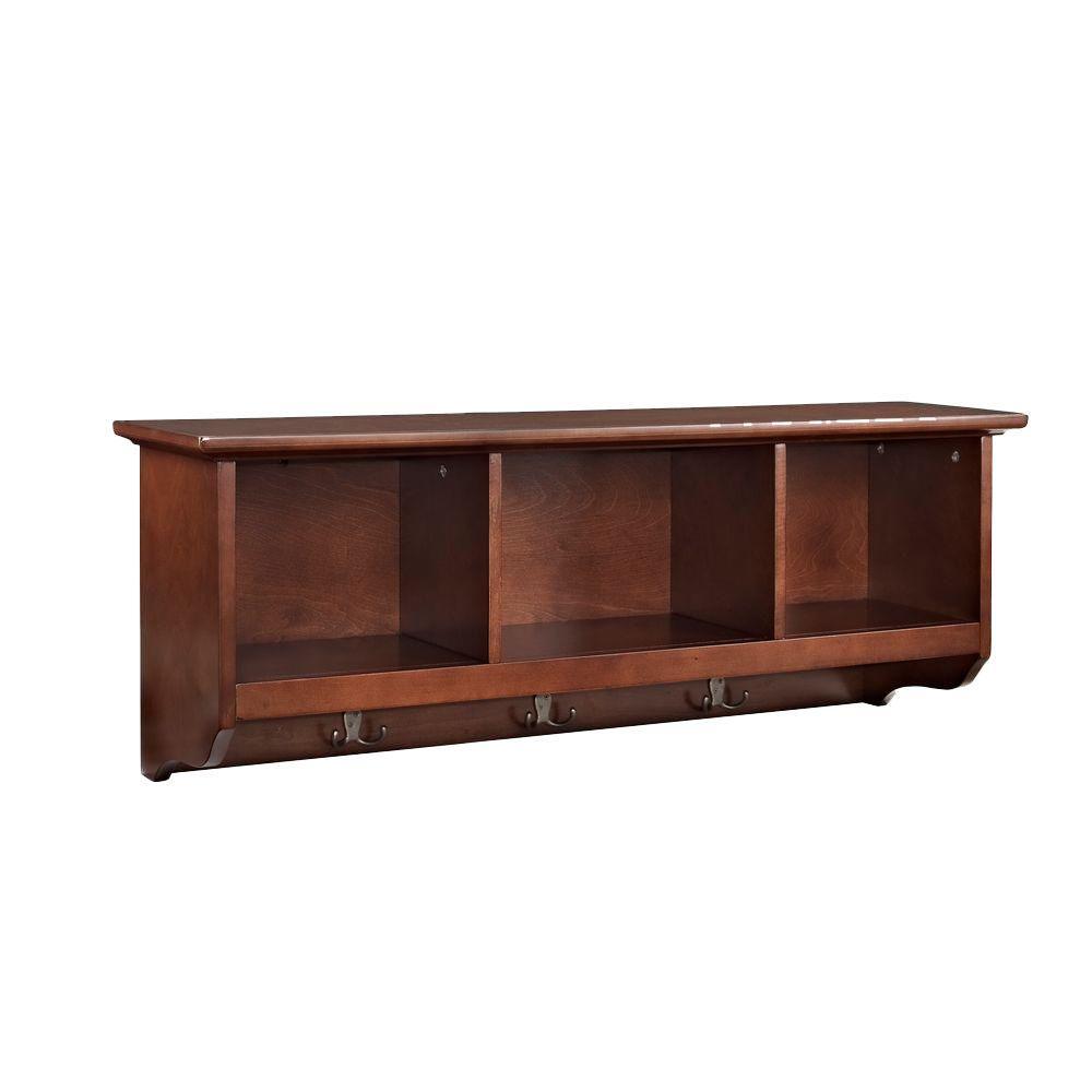 Crosley Brennan Entryway Storage Shelf in Mahogany