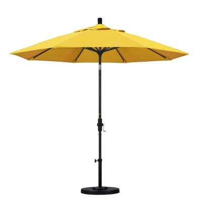 9 ft. Aluminum Collar Tilt Patio Umbrella in Lemon Olefin