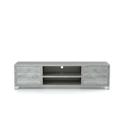 Hart Silver Metal TV Stand