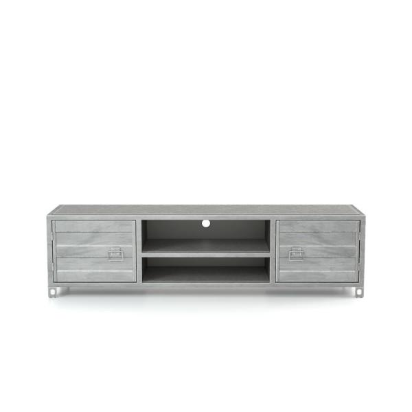Furniture Of America Hart Silver Metal Tv Stand