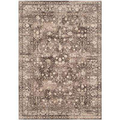 Serenity Brown/Cream 6 ft. x 9 ft. Area Rug