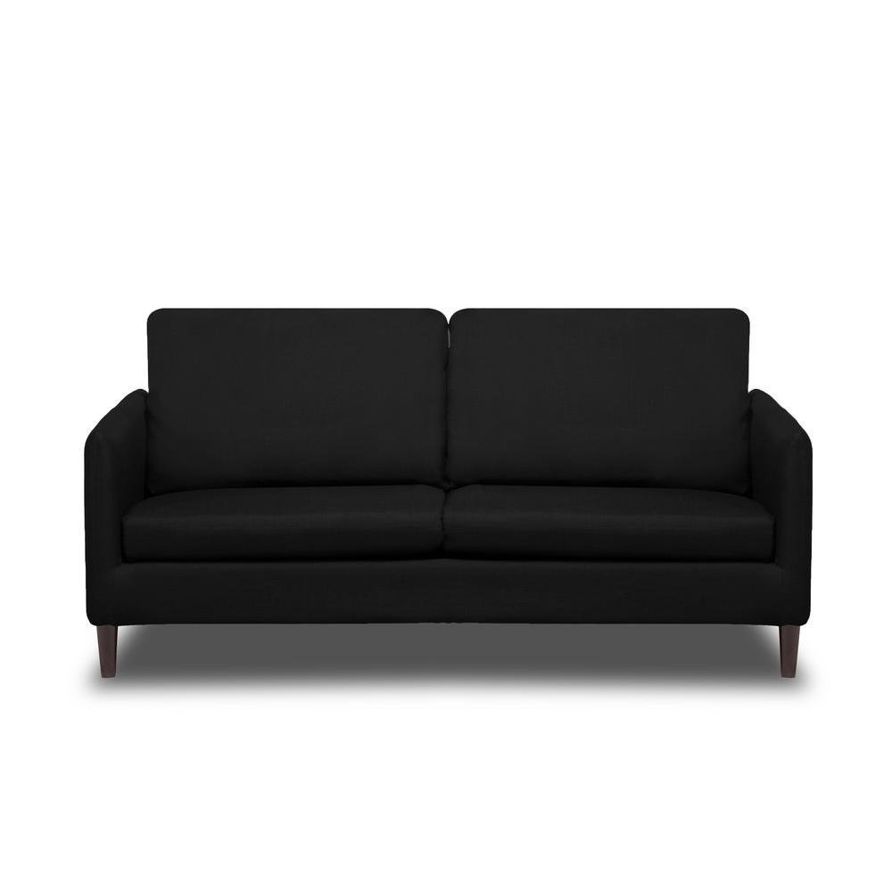 Crosby Black Sofa S2g M7 S 282 22 The Home Depot