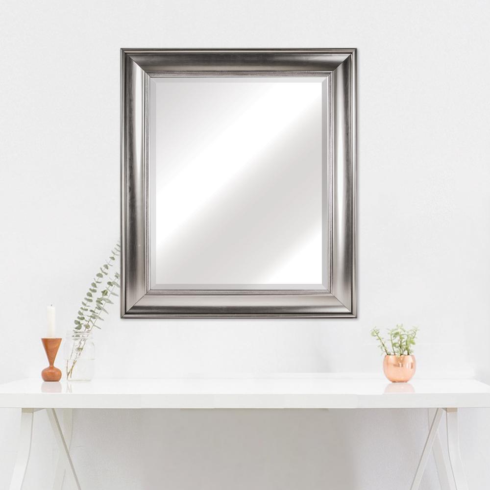 Clarence Rectangular Silver Vanity Mirror