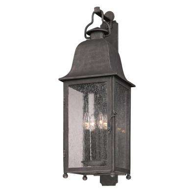 Larchmont 4-Light Aged Pewter Outdoor Wall Mount Lantern