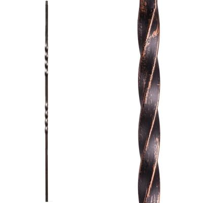 Twist and Basket 44 in. x 0.5 in. Oil Rubbed Bronze Double Twist Solid Wrought Iron Baluster