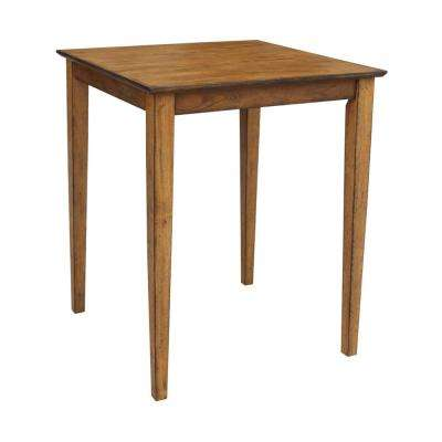 Dining Essentials Distressed Pecan Counter height Table